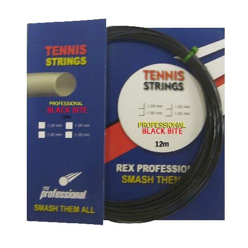Rex Professional tennissnaar Supreme Black Bite 12m