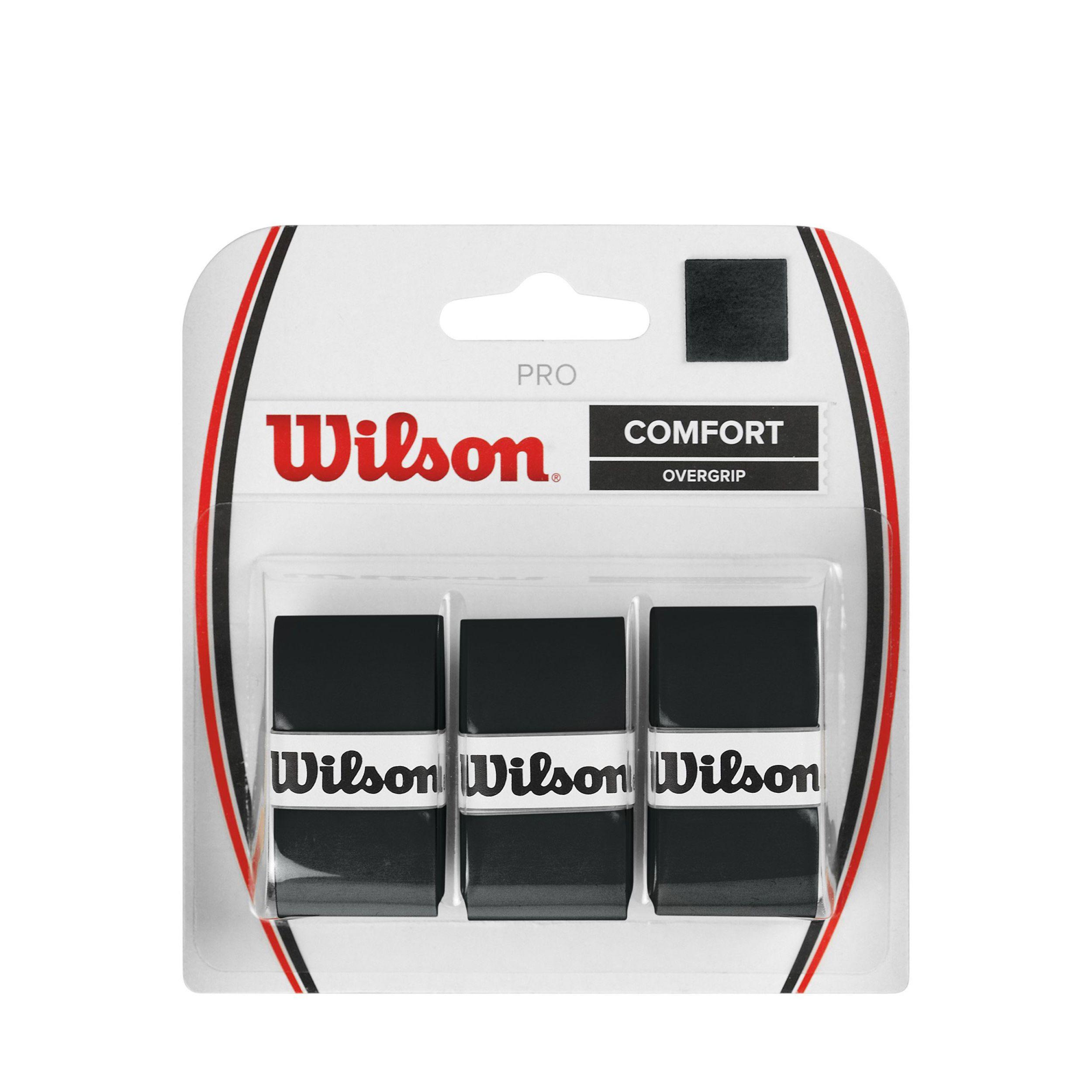 Wilson Pro Overgrip x3 zwart