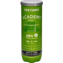 Tretorn Academy Groen 3 pack ( Stage 1)