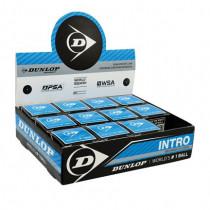 Dunlop Squashbal met blauwe stip (beginner)