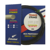 Rex Professional tennissnaar Supreme Black Bite 12m