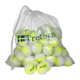 Tretorn plus trainersbal geel / wit 72 stuks